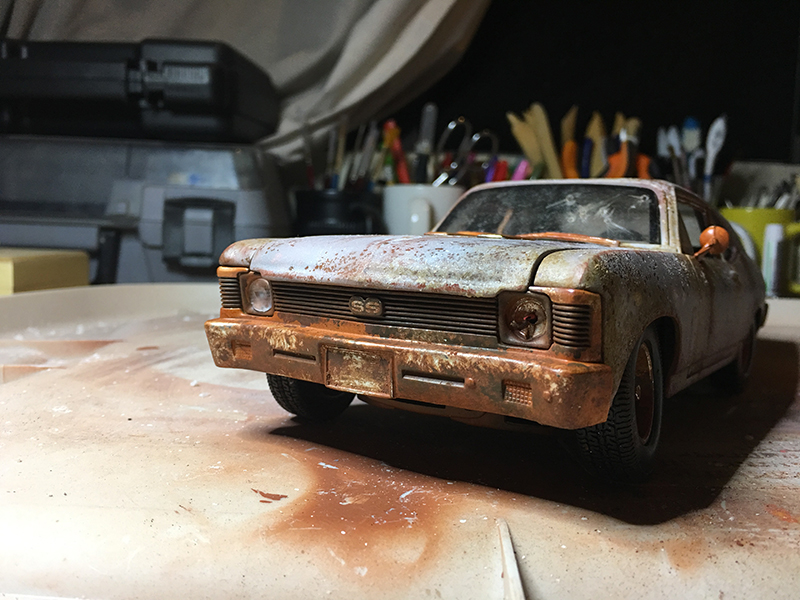 Peinture à l'aerosol de voiture miniature Chevy